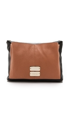 See By Chloe Nellie Medium Evening Pouch Black Pink Sahara