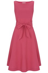 Havren Zara Cotton Belt Dress Hot Pink
