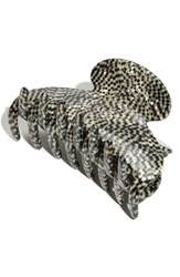 France Luxe 'Couture' Jaw Clip Metallic Opera Silver