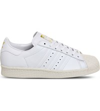 Adidas Superstar 80S Leather Trainers White Off White