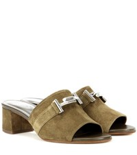 Tod's Suede Mules Green