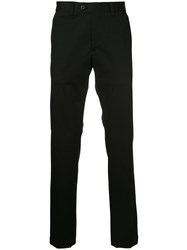 Kent And Curwen Slim Trousers Cotton Black