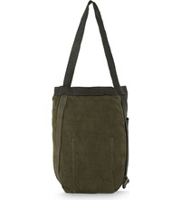 Guidi Hybrid Linen Backpack Tote Olive