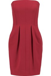 L'agence Claudia Woven Mini Dress Red