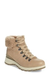 Bionica Diablo Genuine Shearling Bootie Taupe Leather Shearling