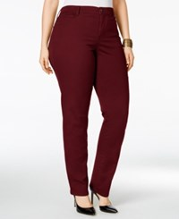 Styleandco. Style Co. Plus Size Tummy Control Slim Leg Jeans Only At Macy's Deep Scarlet