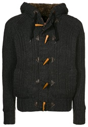 Schott Nyc Cardigan Heather Anthracite