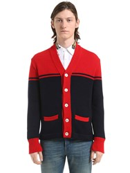 Gucci Wool Cardigan W Tiger Patch On Back