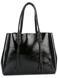 Lanvin Woven Top Handle Tote Women Calf Leather One Size Black