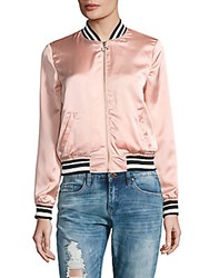 Candc California Baseball Collar Bomber Jacket Tulip Pink