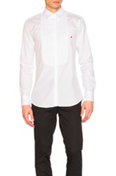 Neil Barrett Icon Graphics Tuxedo Shirt In White
