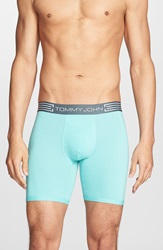 Tommy John 'Cool Cotton' Boxer Briefs Lagoon Blue