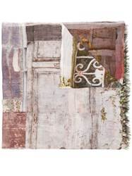 Faliero Sarti Doors Printed Scarf Nude And Neutrals