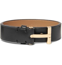 Tom Ford Leather And Gold Plated Bracelet Black