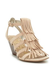 Sam Edelman Sandra Suede Wedge Sandals Beige