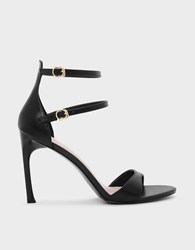 Charles And Keith Dual Ankle Strap Sandals Black