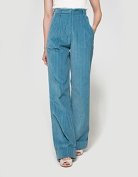 Trademark Corduroy Hi Waisted Pant Light Blue