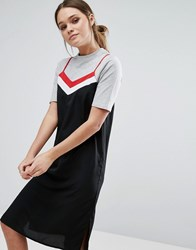 Influence T Shirt And Slip Dress Black