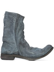 A Diciannoveventitre Relaxed Distressed Boots Leather Grey