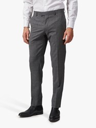 Richard James Mayfair Melange Wool Tailored Suit Trousers Grey