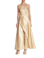 Ralph Lauren Catrice Metallic Jumpsuit Buff