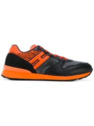 Hogan Rebel Running R261 Trainers Men Leather Nylon Nubuck Leather Rubber 11 Black