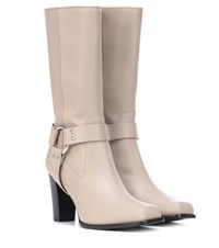 Altuzarra Lucy Harness Leather Boots Beige