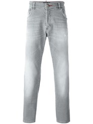 Philipp Plein Straight Leg Jeans Grey