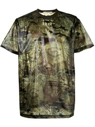 Givenchy Camouflage Print T Shirt Green