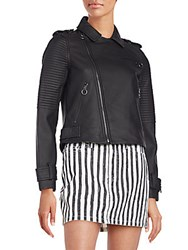 Marc By Marc Jacobs Matte Leather Biker Jacket Black