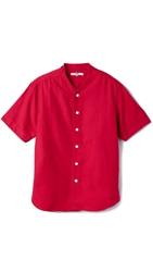 Ymc Oxford Baseball Shirt Red