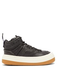 Eytys Delta Tumbled High Top Leather Trainers Black