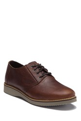 Toms Preston Leather Lace Up Derby Brown