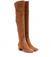 Gianvito Rossi Suede Over The Knee Boots Brown
