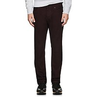 J Brand Kane Brushed Straight Jeans Wine