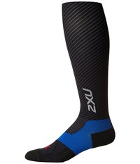2Xu Elite Lite X Lock Compression Socks Black Black Men's Knee High Socks Shoes