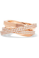 Repossi Technical Berbere 18 Karat Rose Gold Diamond Ring 54
