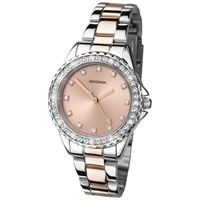 Sekonda 4254.27 Women's Rose Gold Plated Two Tone Bracelet Strap Watch Rose Gold Silver
