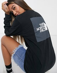 The North Face Box Long Sleeve T Shirt In Black