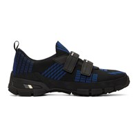 Prada Black And Blue Crossection Sneakers