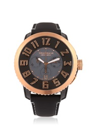Tendence Chr Steel Black And Rose Gold Watch Black Rose Gold
