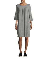 Current Elliott The Abigail Heathered Knit Dress Gray
