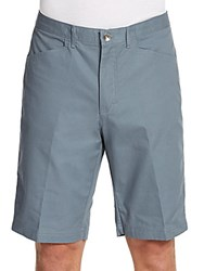 Calvin Klein Flat Front Cotton Shorts Stormy Weather