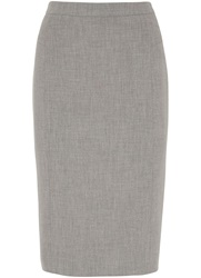 Austin Reed Panama Weave Pencil Skirt Grey