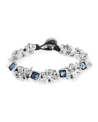 Uno De 50 The Jewel Leather Bracelet Blue