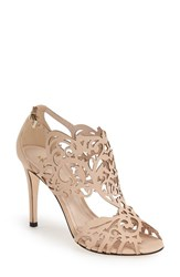 Women's Klub Nico 'Marcela' Laser Cutout Sandal Nude Leather