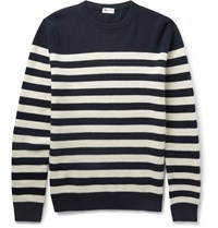 Saint Laurent Striped Cashmere Sweater Blue