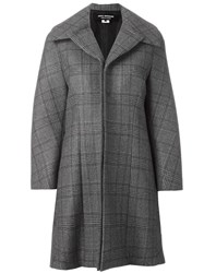 Comme Des Garcons Junya Watanabe Checked Oversized Coat Grey