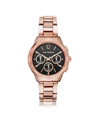 Karl Lagerfeld Optik Rose Gold Pvd Stainless Steel Women's Chronograph Watch Pink