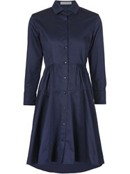 Palmer Harding Flared Shirt Dress Blue
